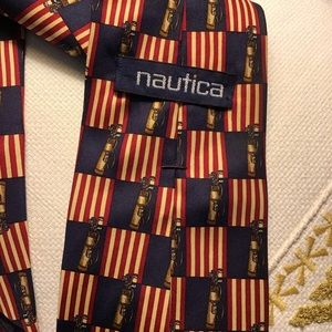Nautica Golf Necktie Silk Patriotic Colors